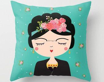 Frida Kahlo almohada almohada moderno vivero Boho chicas