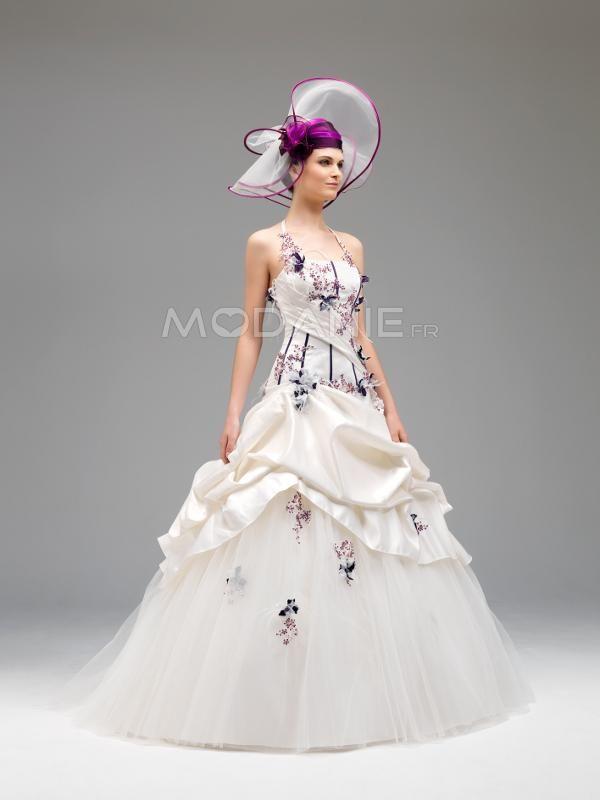 en couleur http://www.modanie.fr/robe-de-mariee-en-couleur-satin ...