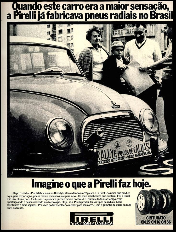 - Anúncio pneus Pirelli - 1979