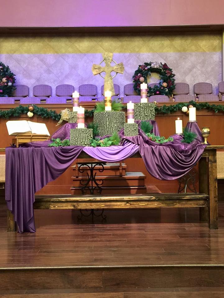 Grace Avenue UMC, Frisco, TX, Advent. Altar DecorationsWorship IdeasRetreat  ...