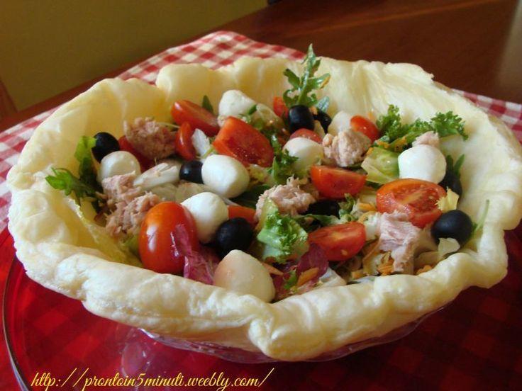 Cestino croccante d'insalata, Ricetta Petitchef