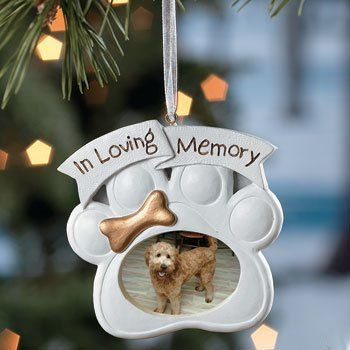 $7.99-$0.00 If you are a dog lover mourning the loss of your beloved best friend , this Christmas ornament makes a beautiful memorial on your tree. A heart felt remeberance of a friendship that can never be replaced. Honor your dog with his /her place on your tree every year and just know that your lost one will never be forgotten.