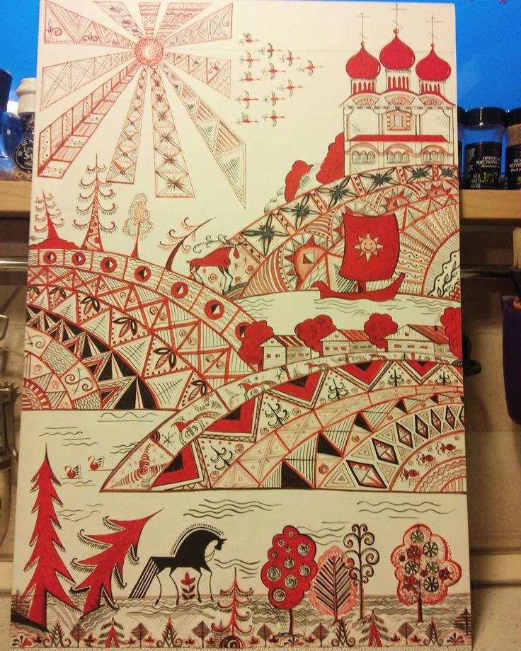 #handmade#folkart#своимируками#мезенскаяроспись#акрил#севернаяроспись#авторскаяработа#творчество#подарокручнойработы#народныепромыслы#ручнаяработаназаказ#настроение#