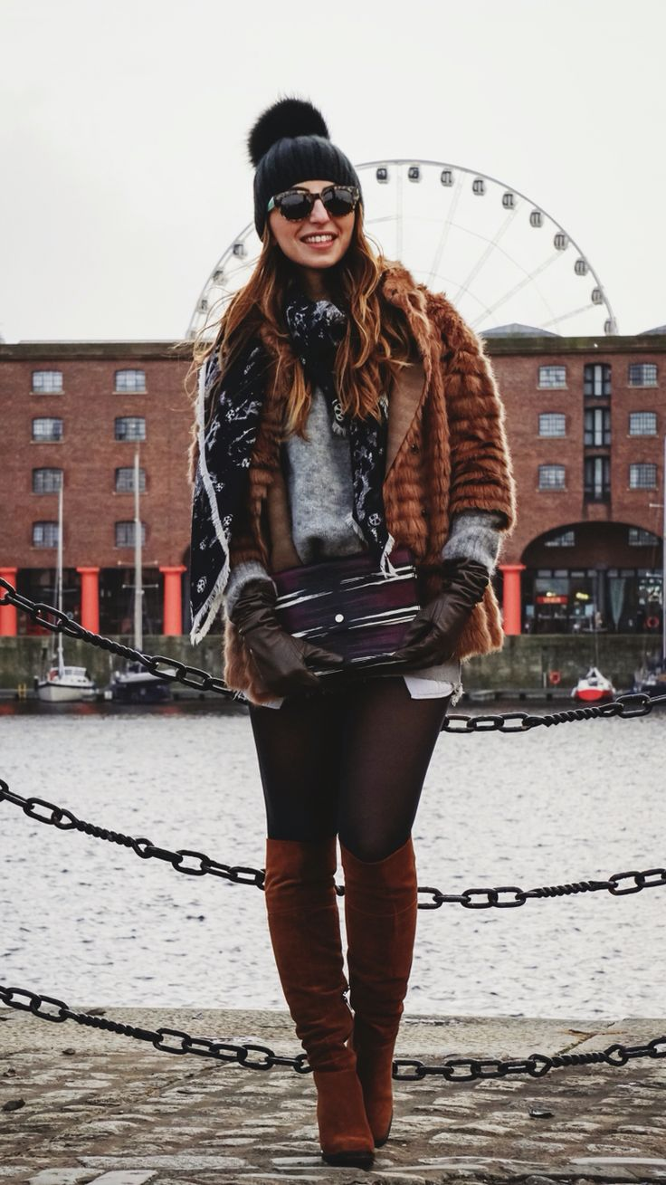 Street Style , Casual yet stylish and classy look with over the knee boots and vintage shorts!
