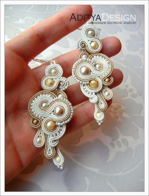 soutache earrings, AdityaDesign, Bahira 103 model