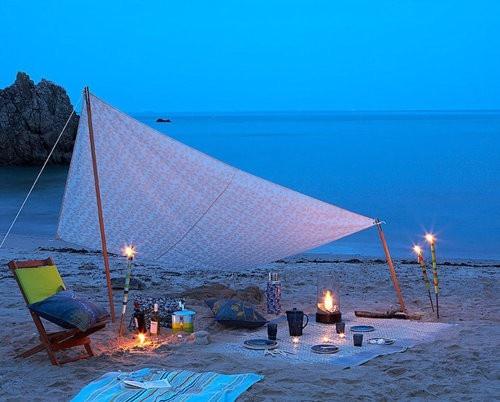 summer beach evening