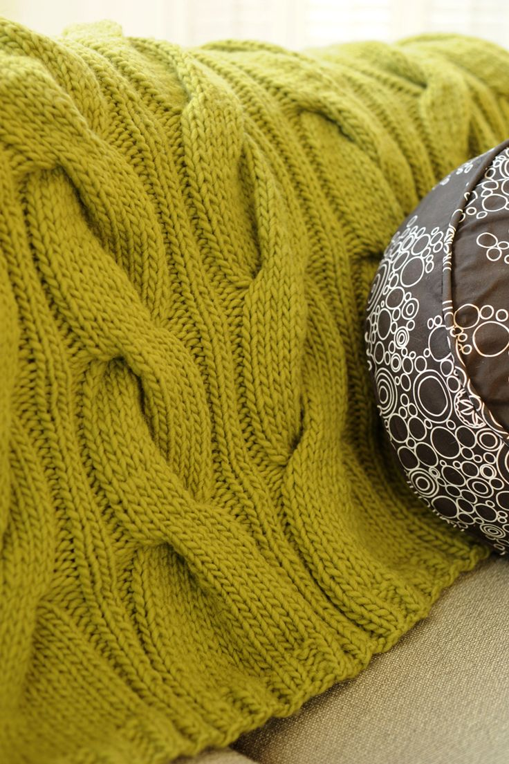 Cable Knit Blanket - @Amanda Snelson Snelson Snelson Snelson Hearn is this too much to ask for on a first attempt project? :) I LOVE big cable knits like this...