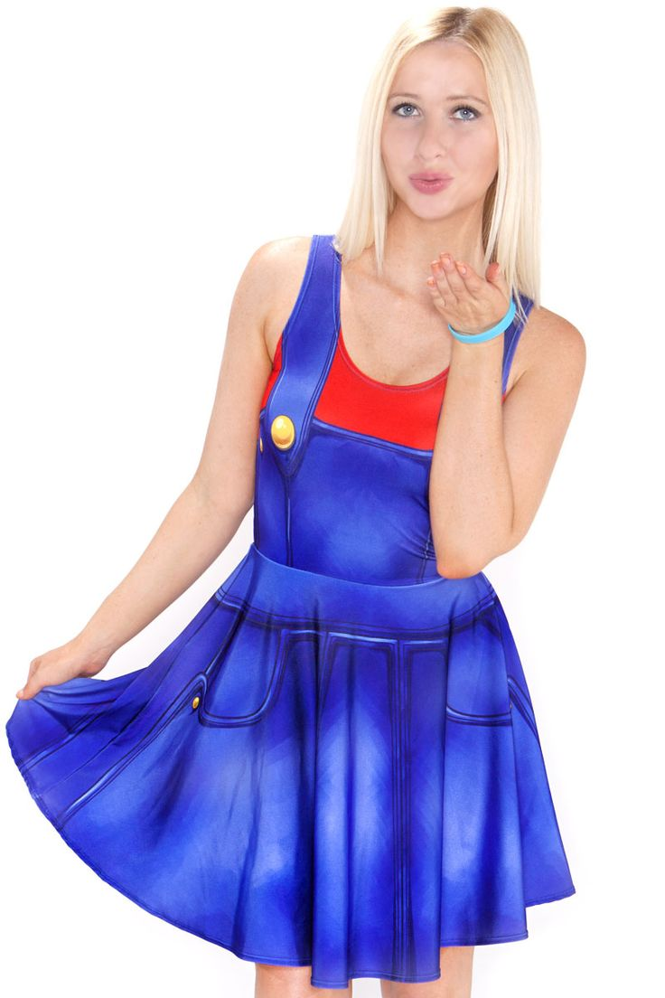 Mario Cosplay Skater Dress - $79