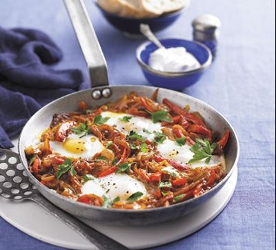 Яйца с чушки по турски (менемен)