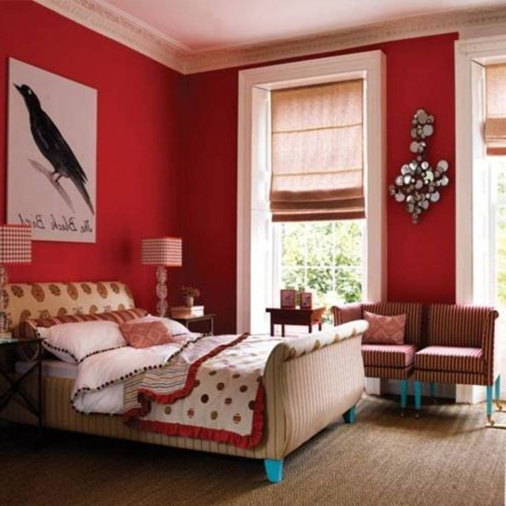 Colorful Rooms With A View: Best 25+ Red Bedroom Walls Ideas On Pinterest