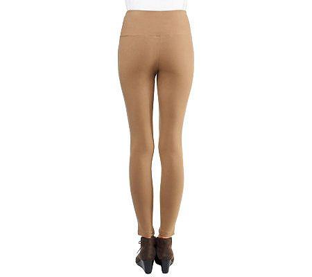 Women with Control Tummy Control Petite Leggings w/Seam Detail — QVC.com