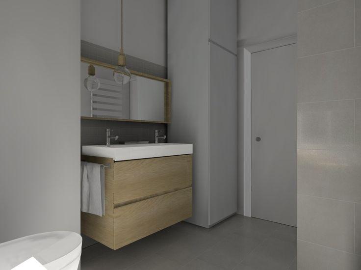 Salle de bain  lavabo Ikea, image virtuelle en 3d