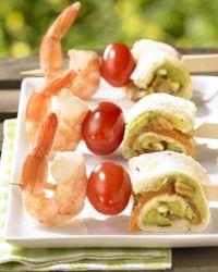 Recept » Colruyt Culinair (minibrochette van gerookte zalm met guacamole)