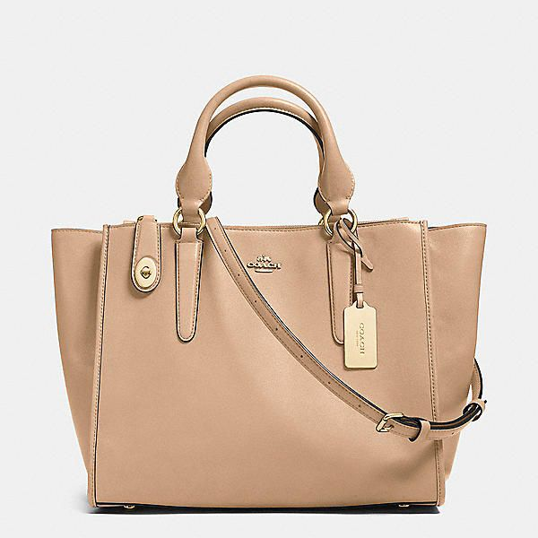 Crosby Carryall in Leather Light Gold/Fog