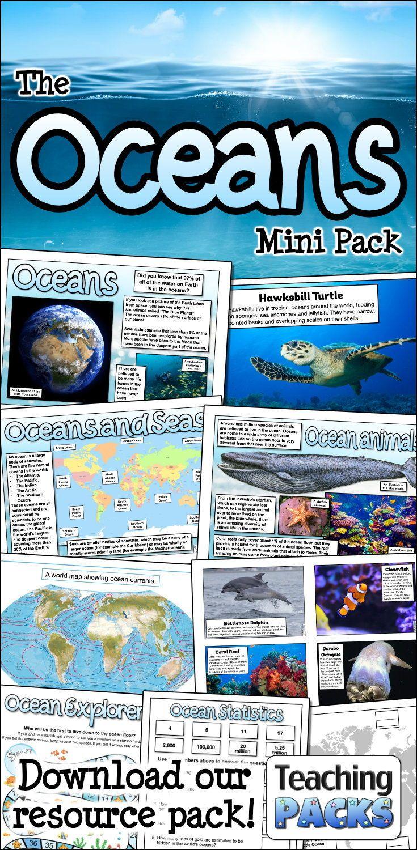 The Oceans Teaching Pack Teaching Packs Classroom Activities Teaching