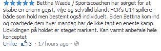 Koordinationstræning inkl. mentale øvelser gør en forskel tjek denne flotte tilbagemelding på mit arbejde hos FC Roskilde...