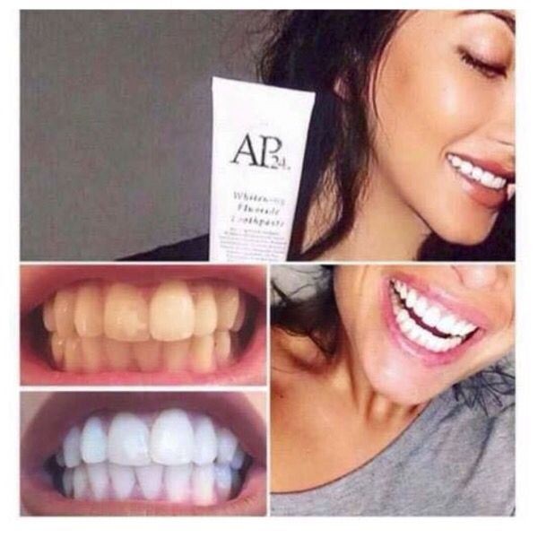 Amazing results with this teeth whitening tooth paste .