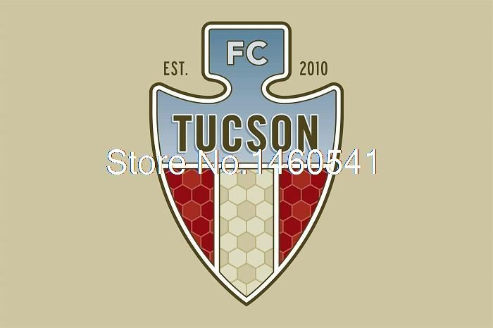 Фк Tucson флаг 3ft x футов полиэстер североамериканских футбол USL PDL баннер размер 4 144 * 96 см QingQing флаг