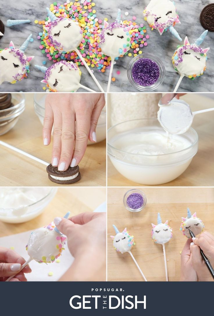Oreo Unicorn Cookie Pops | POPSUGAR Food