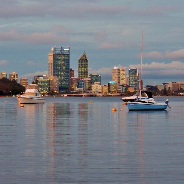Perth city skyline, Perth... #Australia  by dalboyne (instagram)