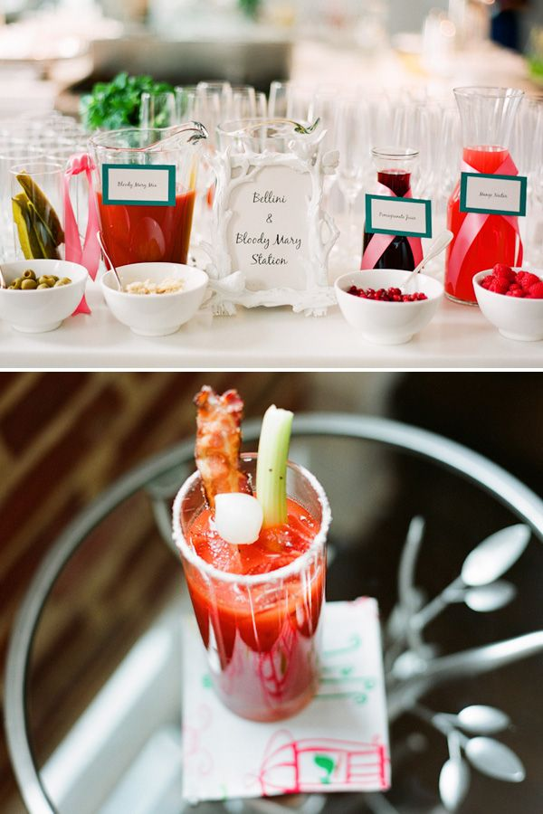 Bellini and Bloody Mary Bar. Brunch party