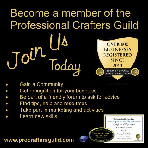 Become a member of the Professional Crafters Guild TODAY! https://www.procraftersguild.com/membershipinfo.html