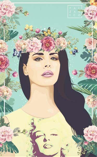 Faiza Rico é uma designer gráfico e ilustradora das Filipinas.Apesar de seu trabalho ser mais focado em tipografia e desenhos de letras,eu fiquei encantada mesmo pelo suas artesmais recentes com vetorização. Ainda são poucos trabalho divulgados, mas Faiza tem se arriscado a criar ilustrações de famosas, comoa Lana Del Rey e Emma Watson. São artes bem delicadas e femininas, além de acertar nas cores, ela ainda cria fundos com flores...