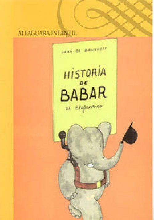 Portada de Historia de Babar el elefantito