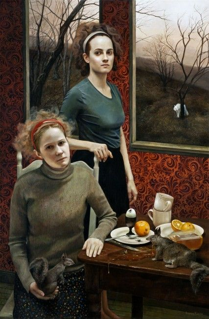 Andrea Kowch, im very pleased to be in a show with her  at the Grand Rapids Art Museum she is fantastic