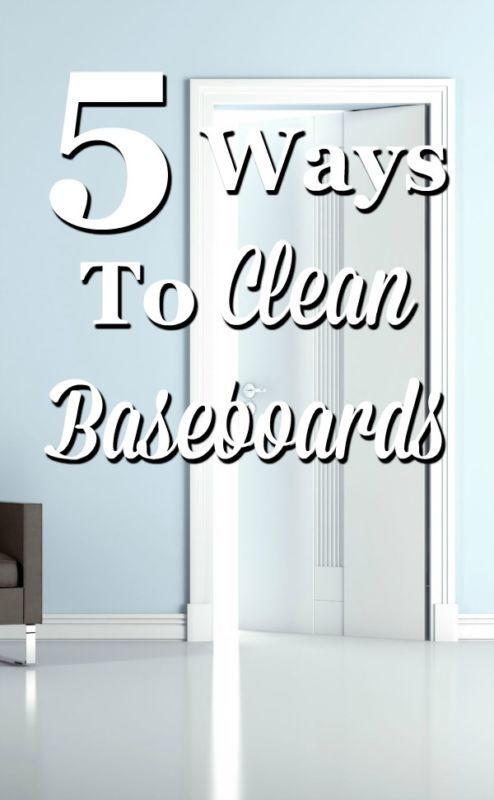 5 ways to clean baseboards of both dust and scuff marks. #ad