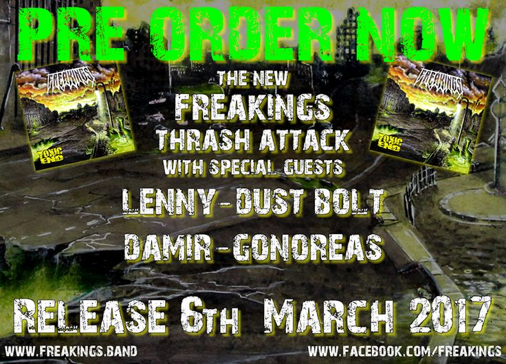 """FREAKINGS """"Toxic End"""" (Full-length, March 6th, 2017)"""