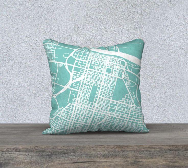 Savannah Map Pillow Cover in Tiffany