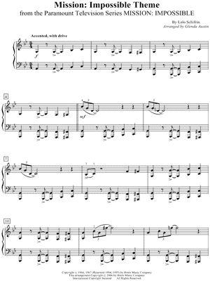 "Lalo Schifrin ""Mission: Impossible Theme"" Sheet Music (Piano Solo) - Download & Print"