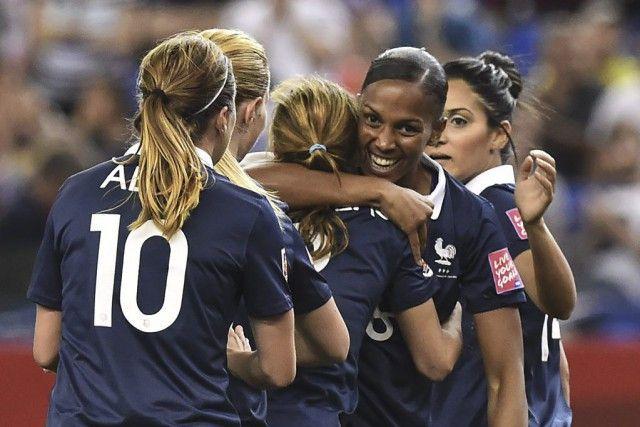 Marie-Laure Delie a inscrit deux buts pour les Bleues.(PHOTO NICHOLAS KAMM, AFP)