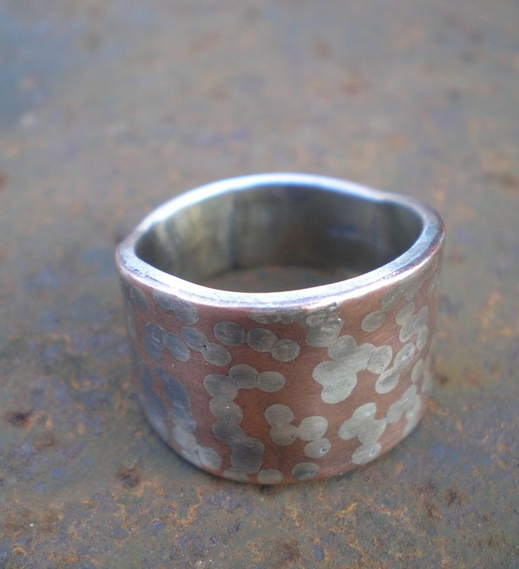 Sterling and copper inlayed ring