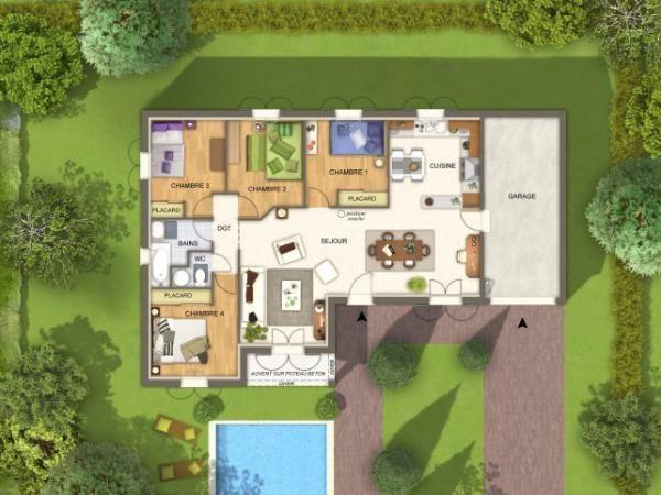501 best Plans plain pied images on Pinterest Home plans, House - plan de maison duplex gratuit pdf