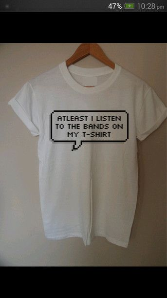 shirt white band merch merch t-shirt internet tumblr