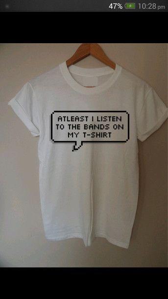 shirt white band merch merch t-shirt internet tumblr
