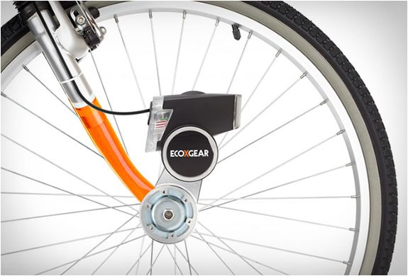 ECOXPOWER | CHARGE SMARTPHONE /GPS PEDALING. Clever product by Ecoxgear, the Ecoxpower will assure you´ll never run out of power on your smartphone or GPS. The genius contraption will charge your smartphone or GPS while you pedal! The faster you go the faster your device charges! Ecoxpower is also a light that can be turned on/off from a handlebar mounted switch. It also includes a mounted water resistant touch screen case for your smartphone/GPS. $79