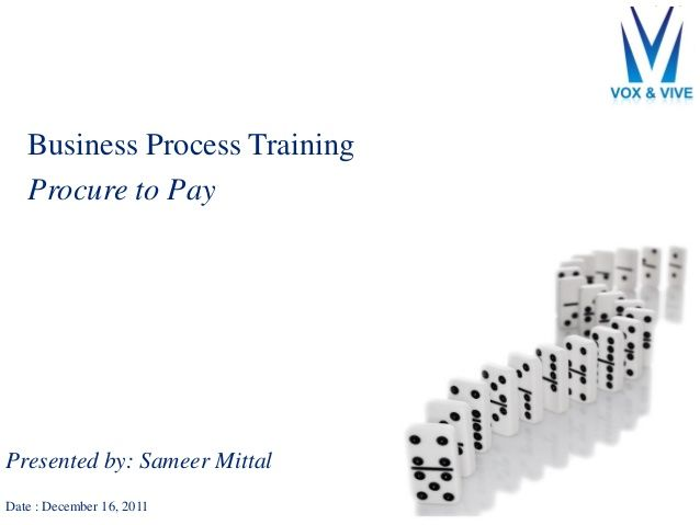 Procure to Pay Process