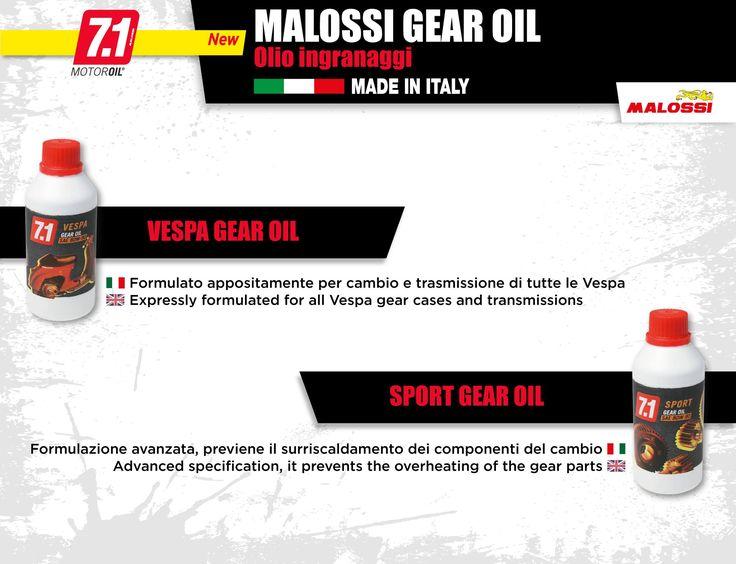 La gamma di oli per ingranaggi della linea 7.1 Malossi si arricchisce del nuovo VESPA GEAR OIL: prestazioni super su tutti i modelli di frizione Vespa! ➠ http://www.malossi.com/olio-malossi-ingranaggi-linea-7-1/  VESPA GEAR OIL is the new gear oil for all Vespa: tested on all models of Vespa wet clutches, higher performances! ➠ http://www.malossi.com/en/malossi-oils-7-1-gears-oils/