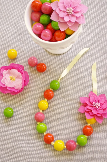 Gumball necklace tutorial...cute for a favor or birthday craft.