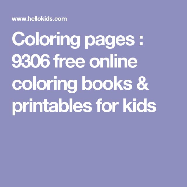 Coloring Pages 9306 Free Online Books Printables For Kids