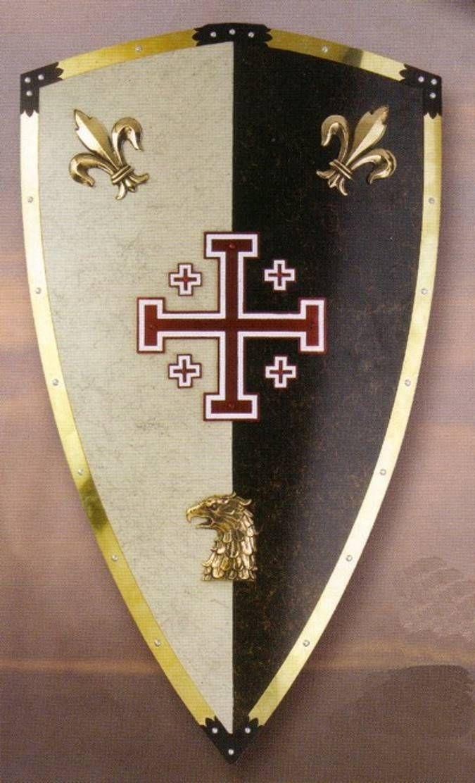 Escudo Caballeros de Jerusalen. Escudos medievales