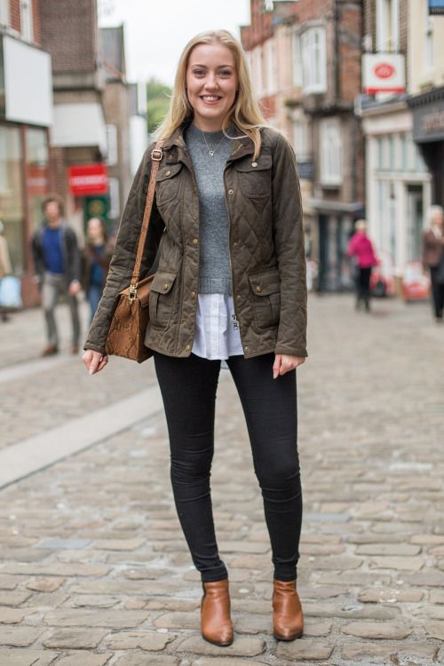 'We spotted Grace in her Barbour Quilted Jacket - a Christmas gift from her boyfriend!\u00a0'