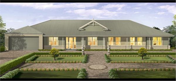 mcdonald jones home designs: bronte house collection - country