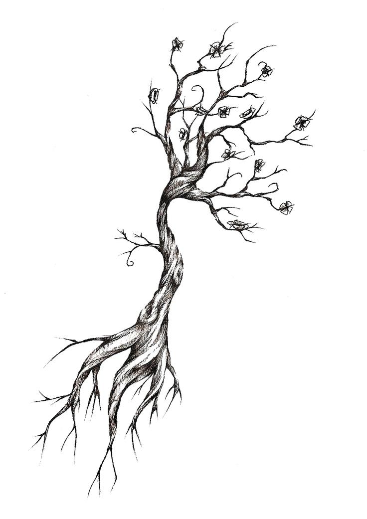 Tree Tattoo Design by meripihka.deviantart.com