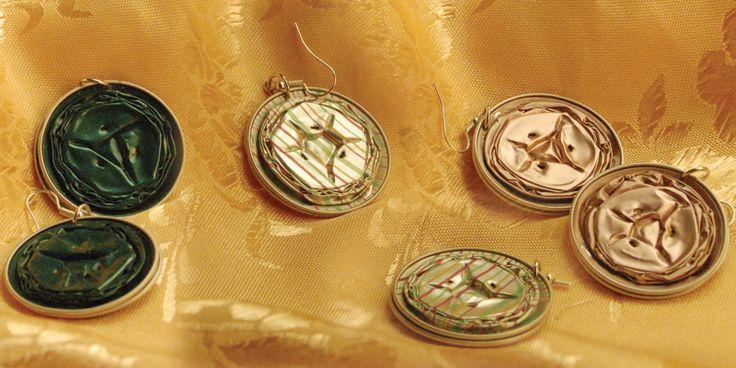 Orecchini Linea Messico – Orecchini con cialde; colori e fantasie varie (su richiesta).