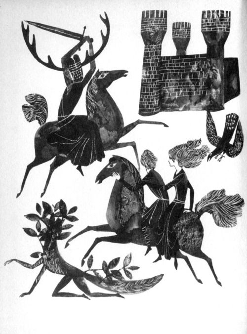 Herbert Holzing illustration for Taran und das Zauberschwein by Lloyd Alexander