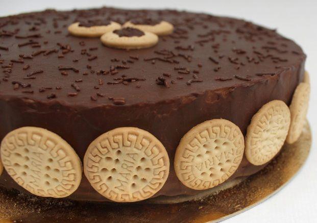 Blog de MeEncantaelChocolate.com: Torta fria de Galletas María con chocolate